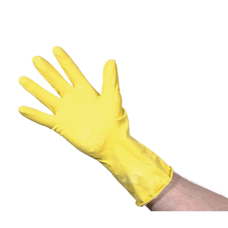 Yellow Rubber Gloves Large (12 pairs)
