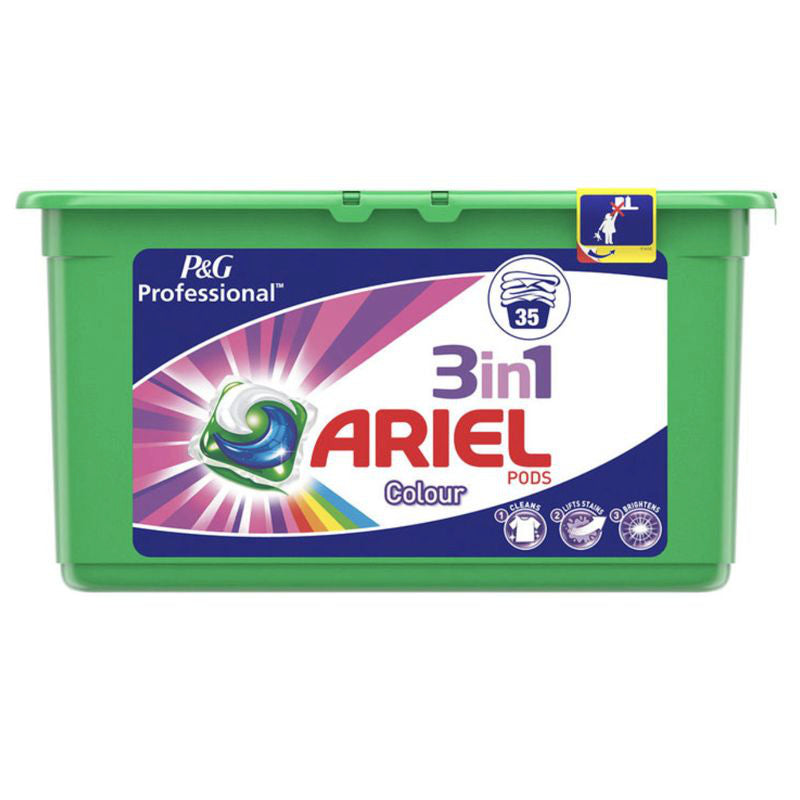 Load image into Gallery viewer, Ariel 3 in 1 Colour Laundry Liquid Pods 1 x 35