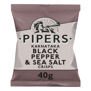 Pipers Black Pepper & Sea Salt Crisps 24 x 40g