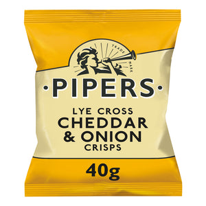 Pipers Lye Cross Cheddar and Onion Crisps 24 x 40g