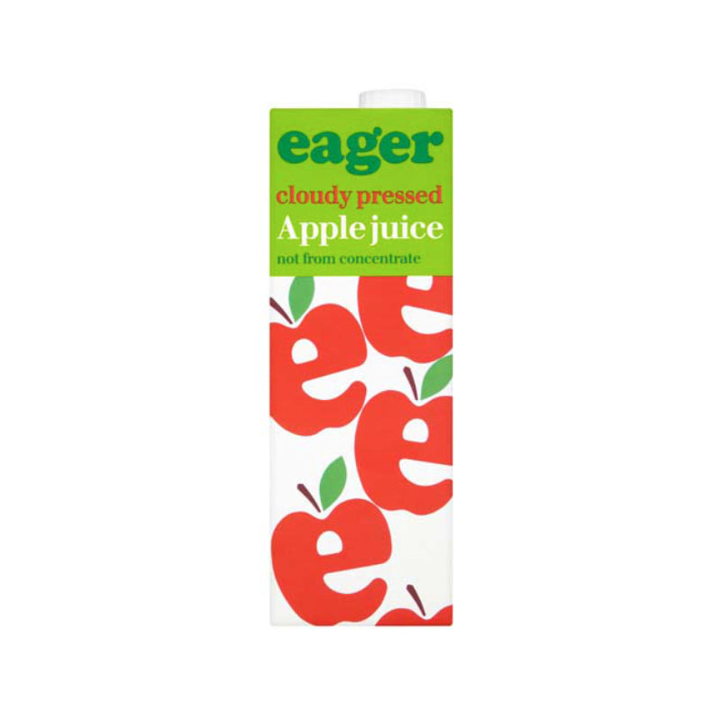 Eager Cloudy Pressed Apple Juice Tetra 1L