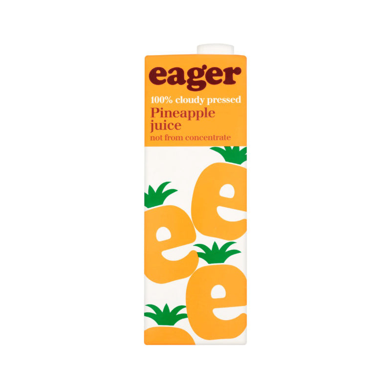 Eager Pressed Pineapple Juice Tetra 1L