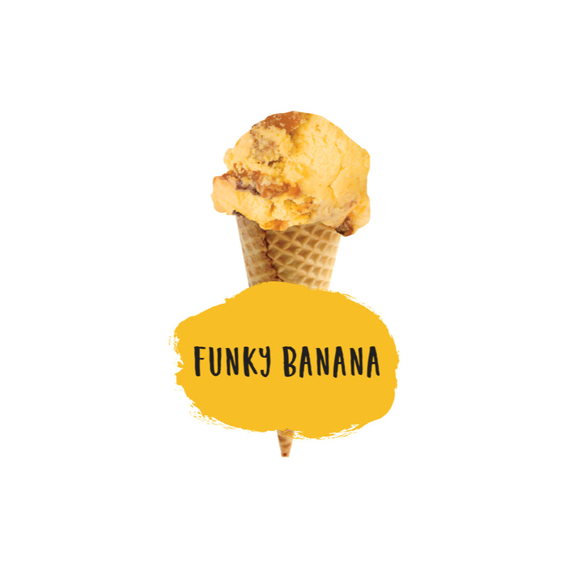 1ltr Marshfield Funky Banana Ice Cream