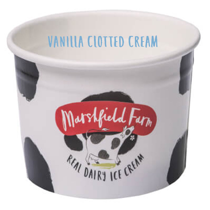 4ltr Marshfield Vanilla Clotted Ice Cream