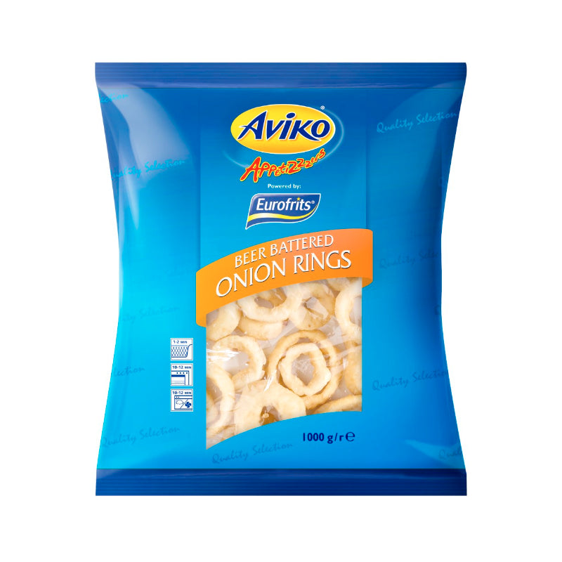 Aviko Beer Battered Onion Rings 1kg