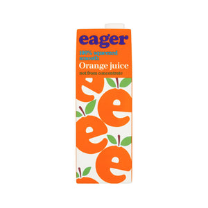 Eager Squeezed Orange Juice Tetra 1L