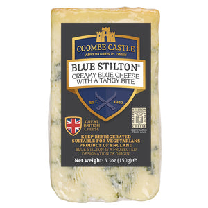 Load image into Gallery viewer, Coombe Castle Blue Stilton Wedge 150g