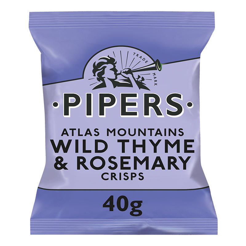 Pipers Wild Thyme & Rosemary Crisps 24 x 40g