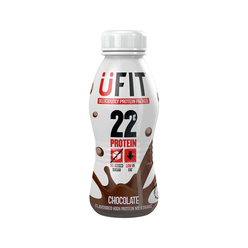 Load image into Gallery viewer, Ufit Protein Shake Drink Chocolate 8 x 310ml