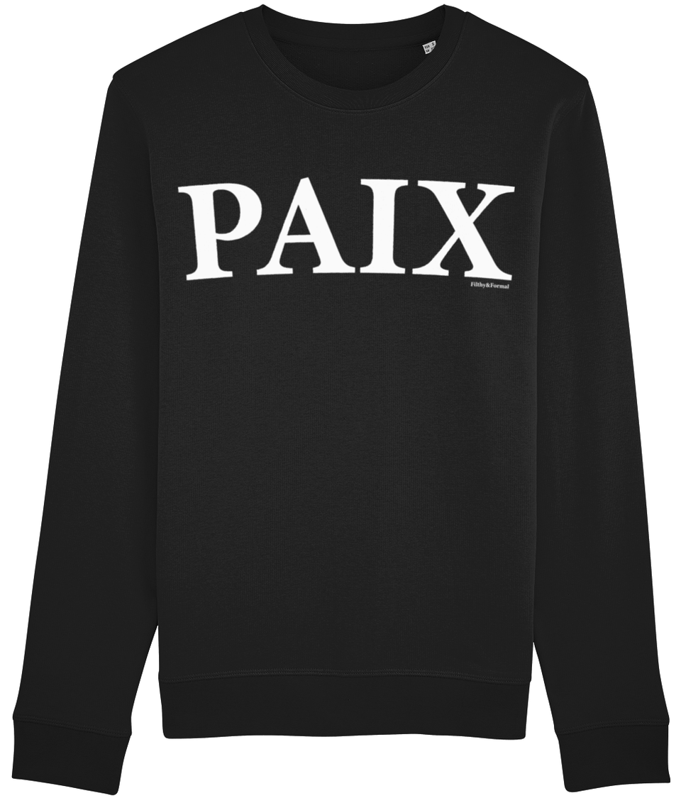 black 'PAIX' sweatshirt