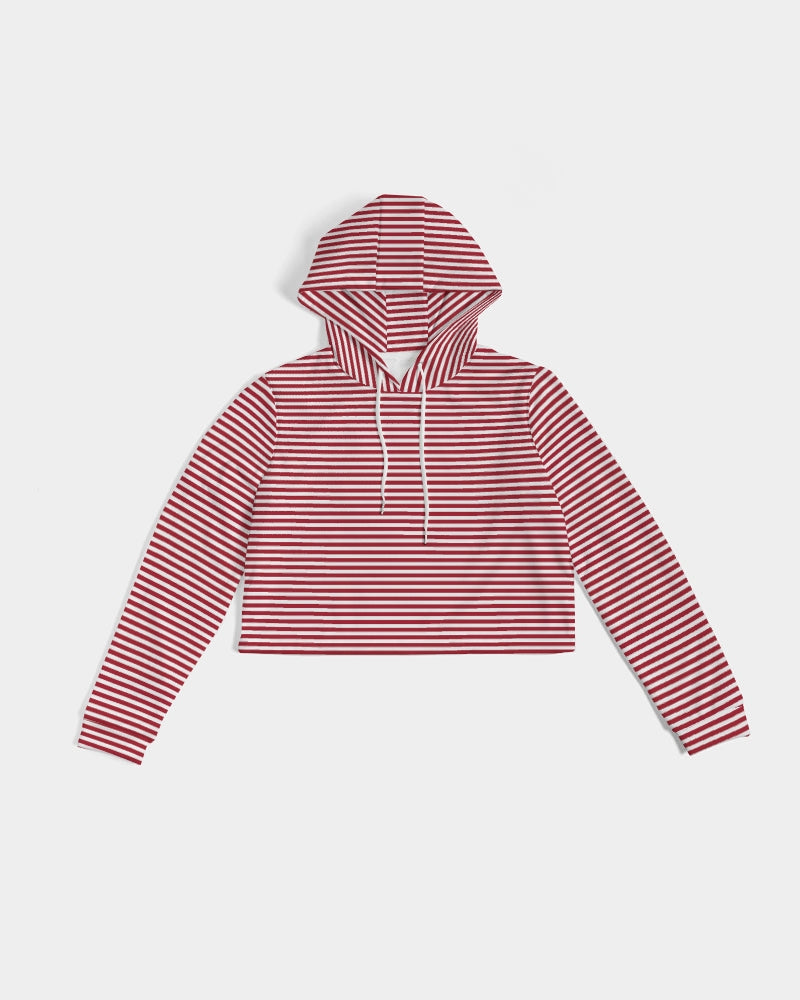Candy Cane Cropped Hoodie