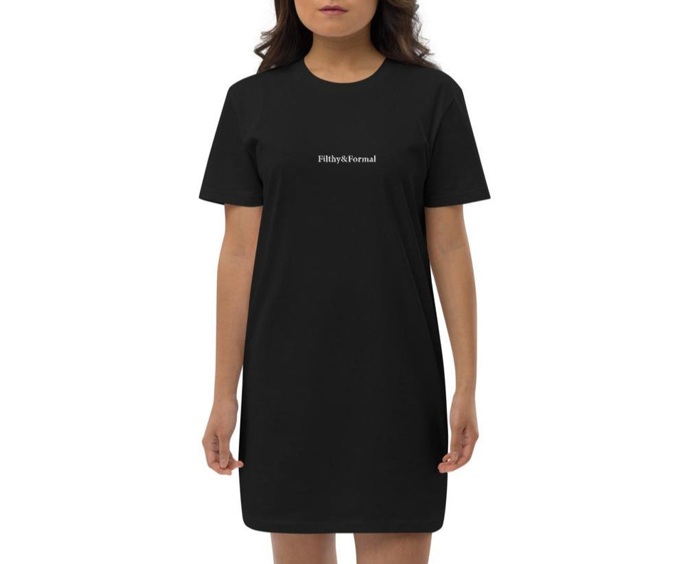 F&F Essential Embroidered T-Shirt Dress