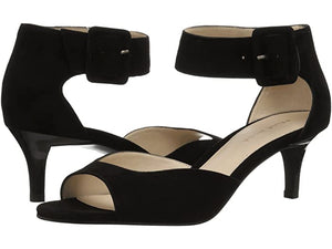 Berlin Heel in  Black Suede