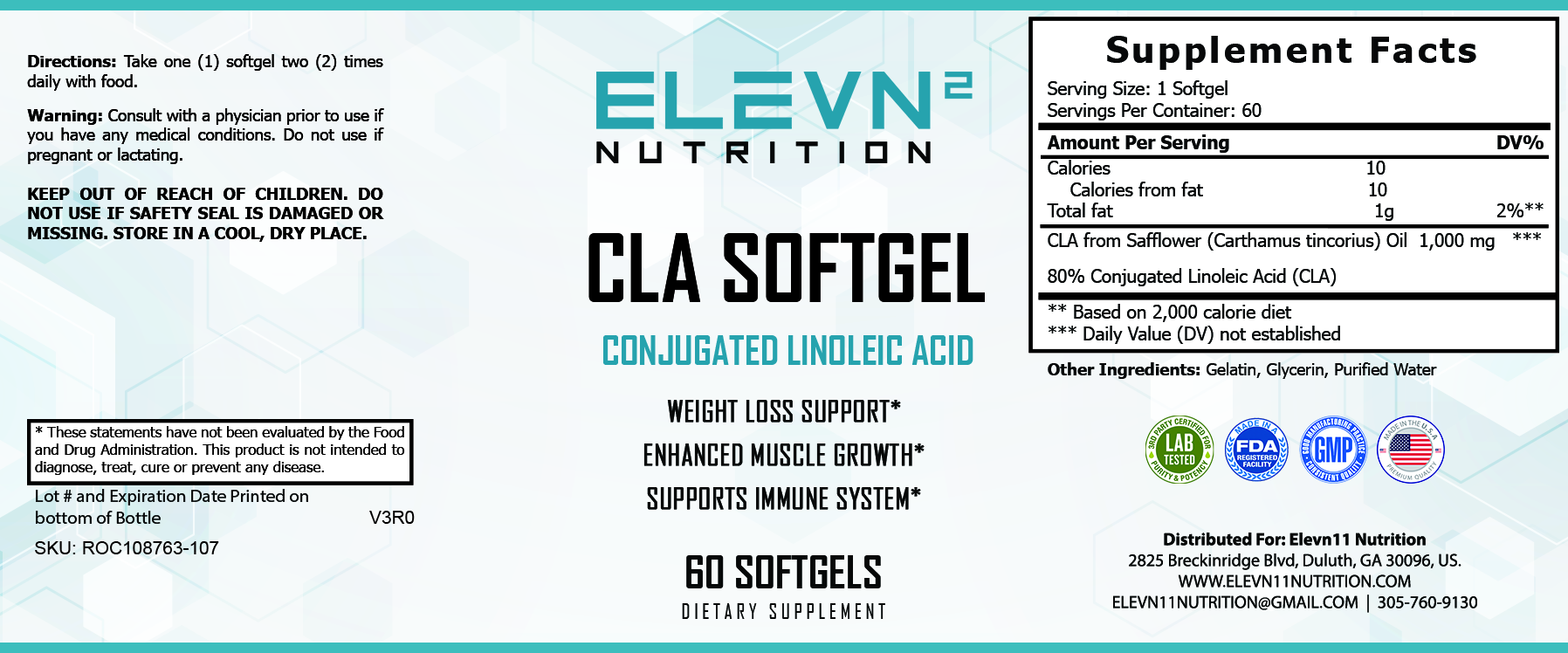 CLA Softgel Pills