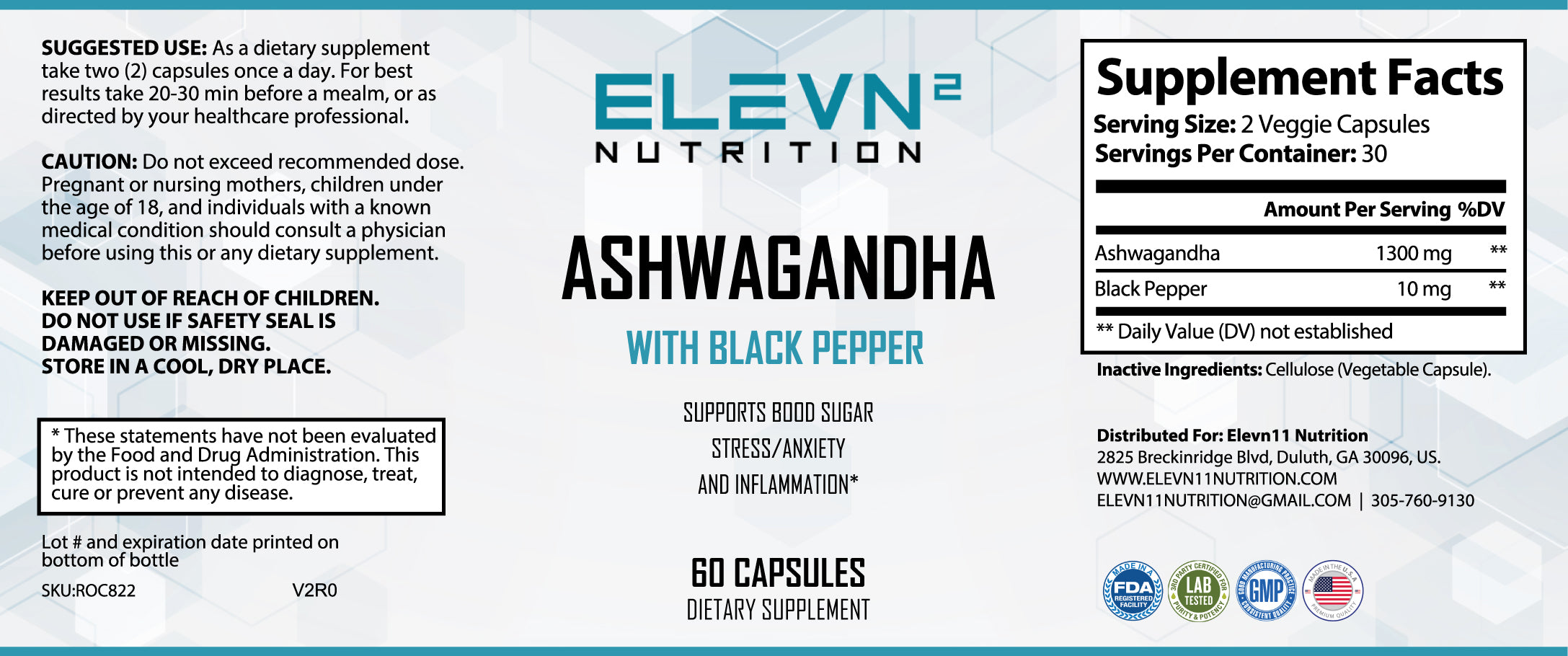 Ashwagandha with Black Pepper