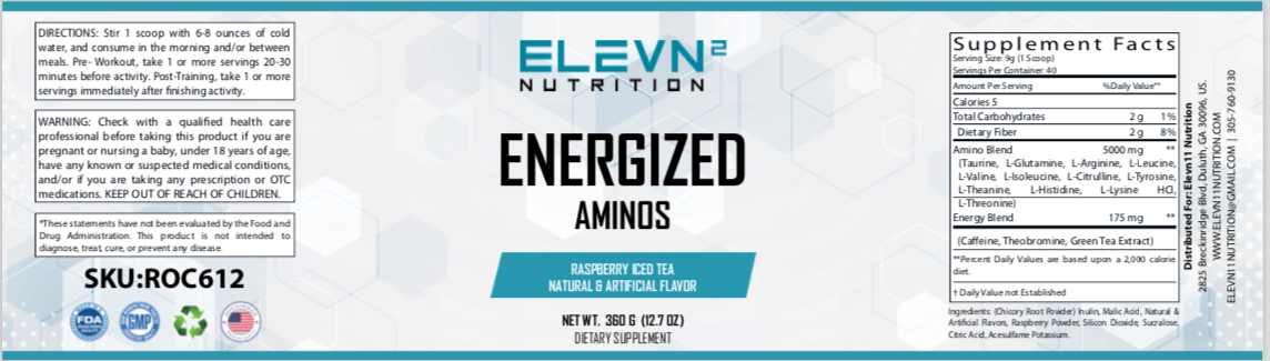 Energized Aminos Raspberry Iced Tea