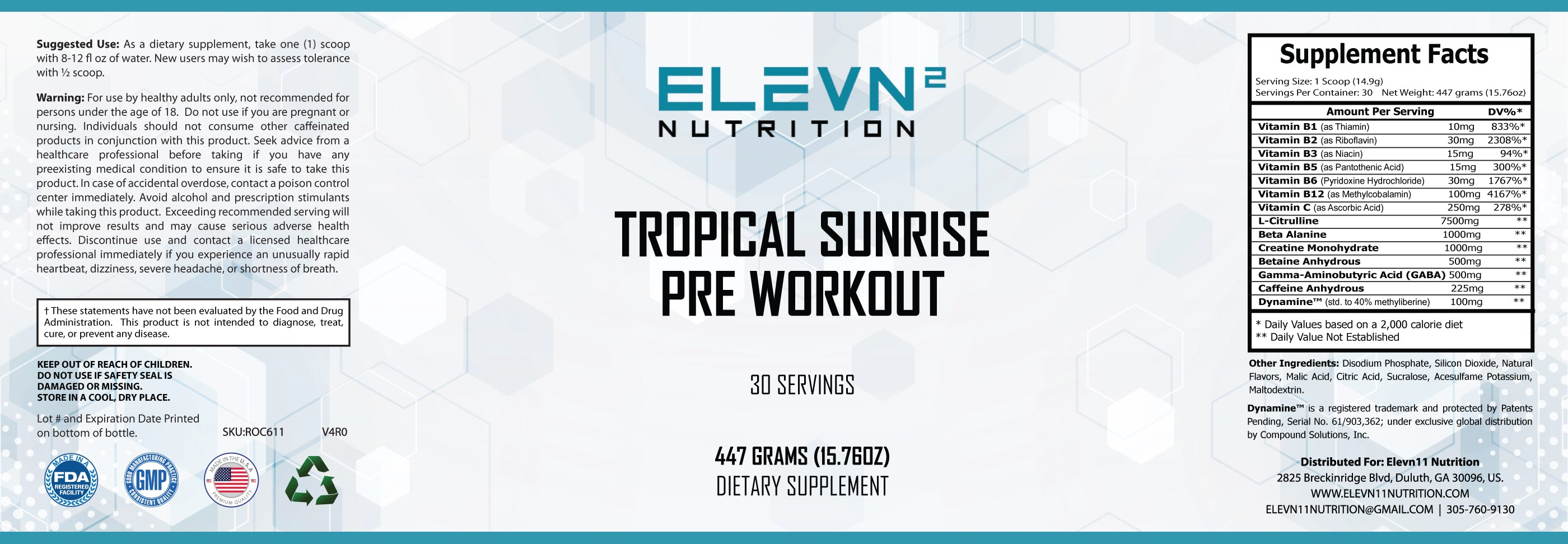 Tropical Sunrise Pre Workout