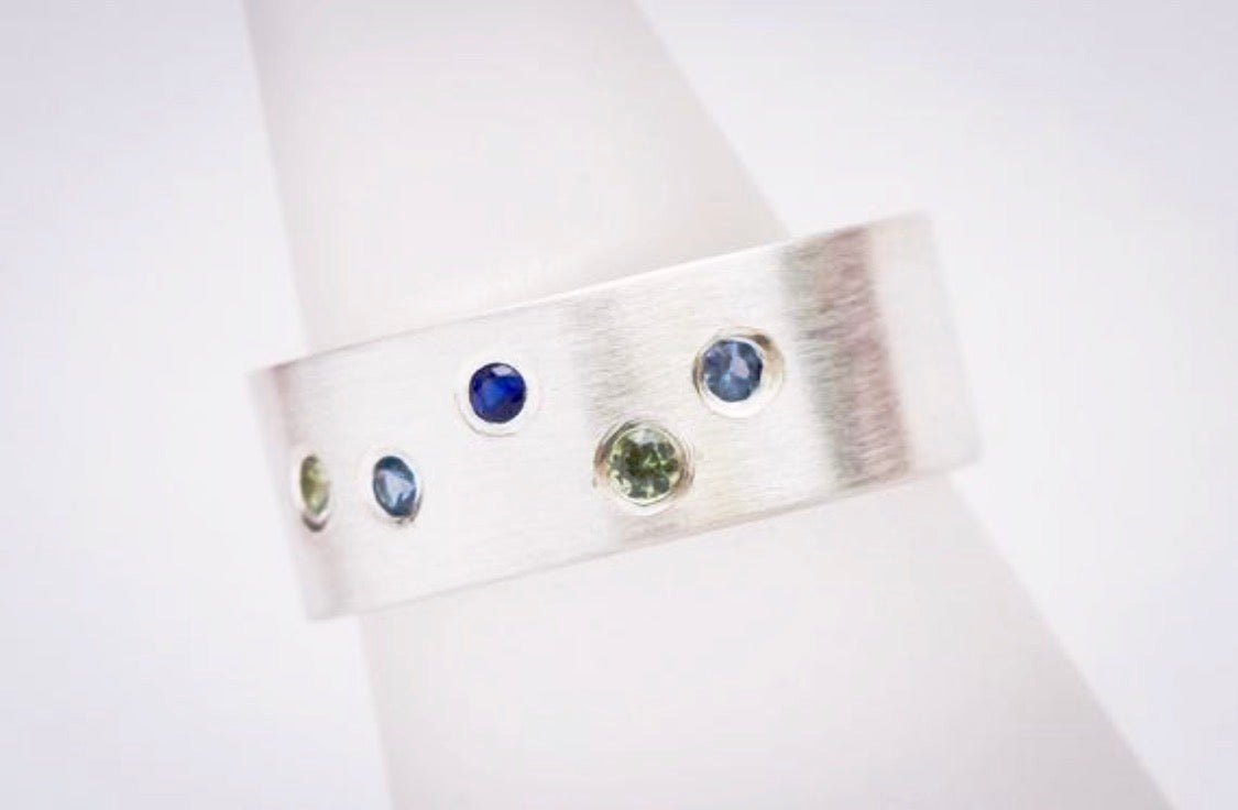 Birthstone Ring - You Choose Five Stones