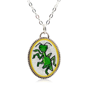 Praying Mantis Micro Mosaic Pendant