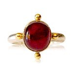 Load image into Gallery viewer, Ruby Ring in 18K Gold and Sterling Silver
