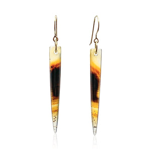 18K Gold Montana Agate Earrings