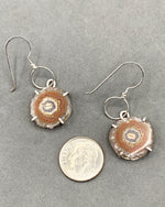 Load image into Gallery viewer, Quartz Crystal Earring with Carnelian Drops