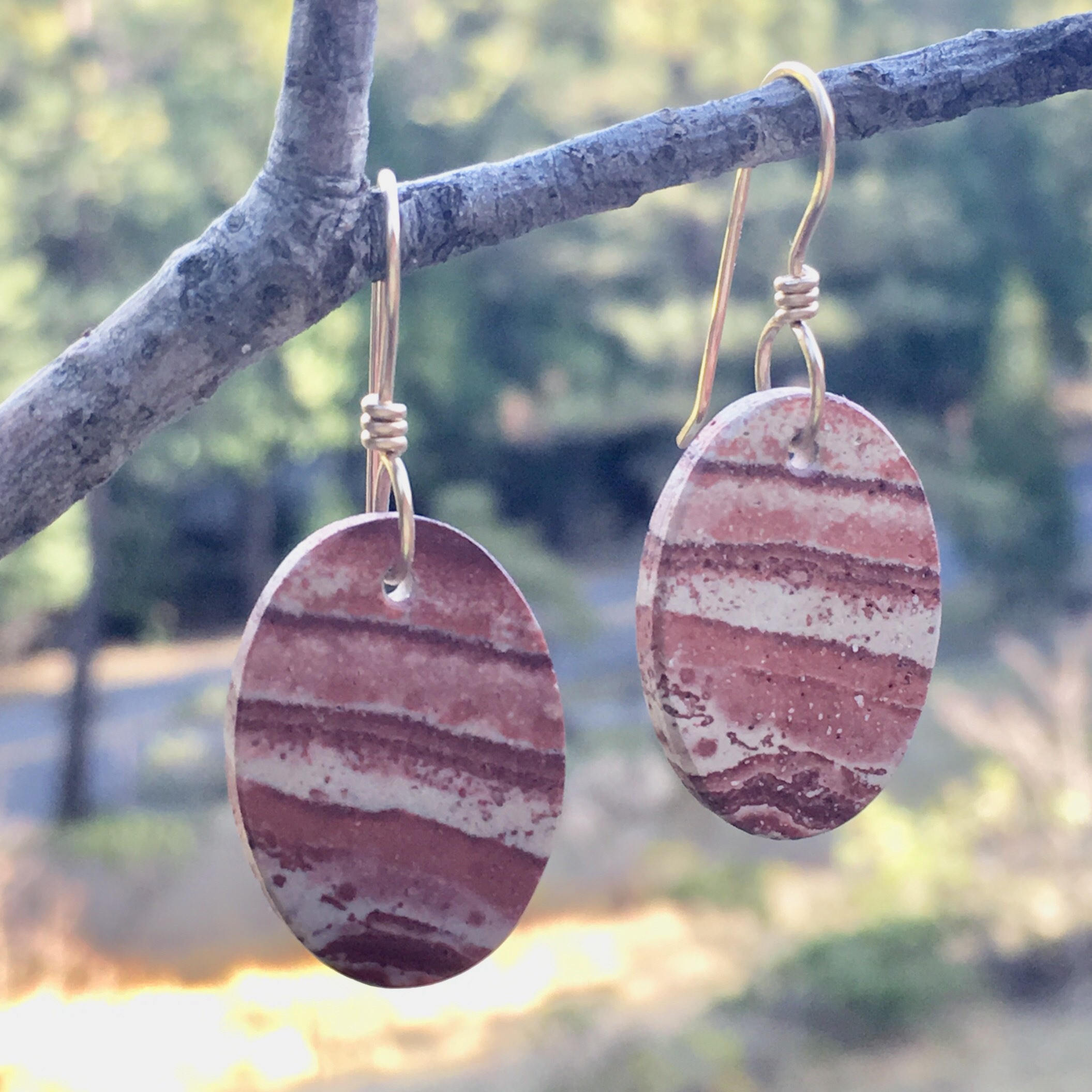 Jasper Earrings in Gold