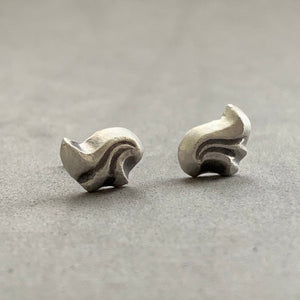 Acanthus Leaf Stud Earrings