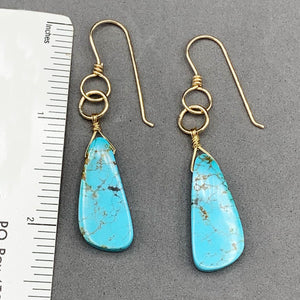 Turquoise Earrings in Gold