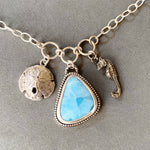 Load image into Gallery viewer, Larimar Ocean Charm Necklace