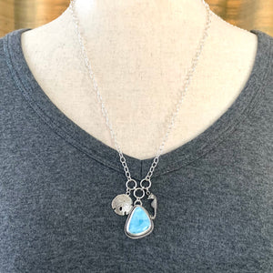 Larimar Ocean Charm Necklace