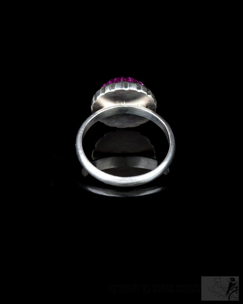 Pink Lab Sapphire Ring