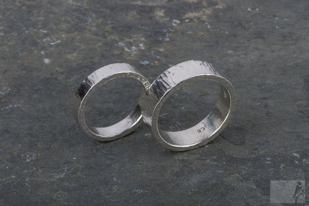 Wedding Bands in Sterling Silver
