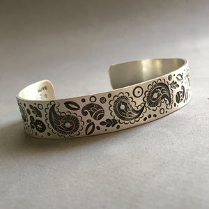 Paisley Stamped Cuff Bracelet