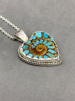 Load image into Gallery viewer, Turquoise in Ammonite Heart