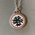 Load image into Gallery viewer, Double Headed Aztec Eagle Pendant