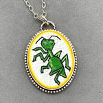 Load image into Gallery viewer, Praying Mantis Micro Mosaic Pendant