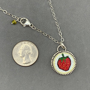 Strawberry Micro Mosaic Pendant