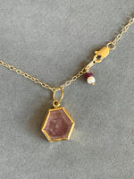 Load image into Gallery viewer, Pink Sapphire in 22K Gold