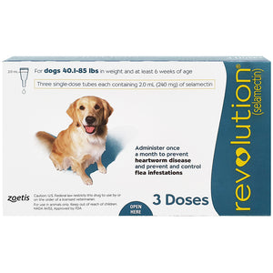 REVOLUTION® For Dogs, 40.1-85 lbs (Teal box, Box, 3's)