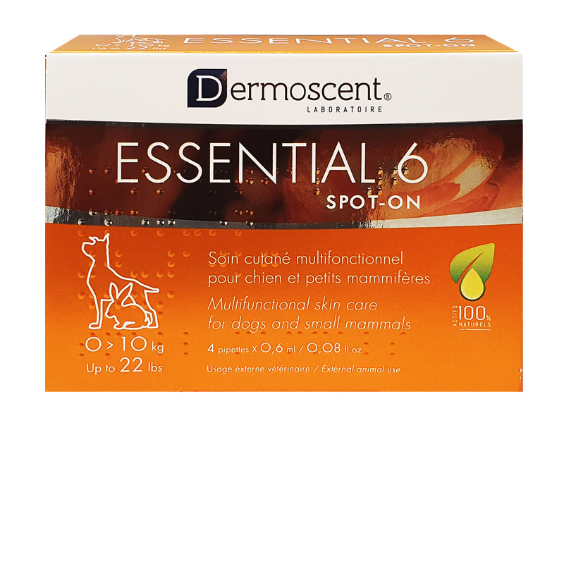 Dermoscent Essential 6® Spot-On Skin Supplement for Dogs <10kg