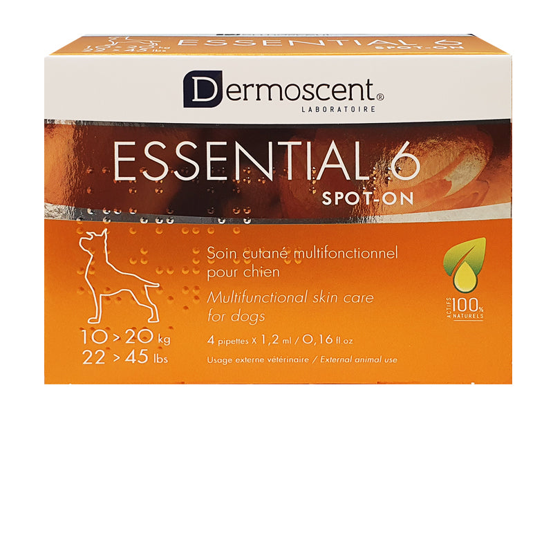 Dermoscent Essential 6® Spot-On Skin Supplement for Dogs 10-20kg