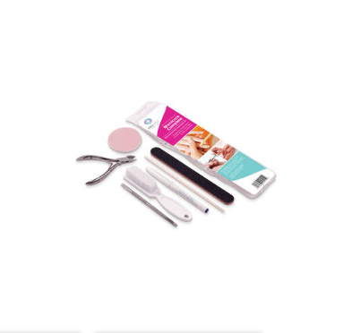 Everything inside of the package of Pro Manicure Complete Kit