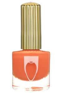 Bottle of Floss Gloss Nail Polish Bikini Coral  a neon orange with coral color