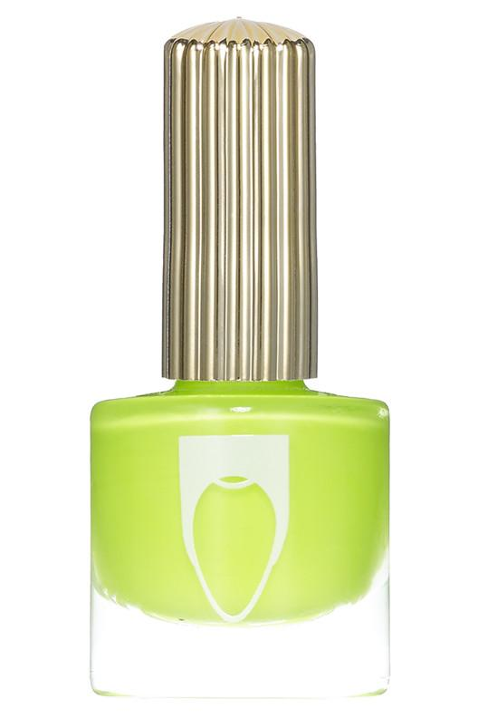 Bottle of Floss Gloss Nail Polish Con Limon  with neon lime green color