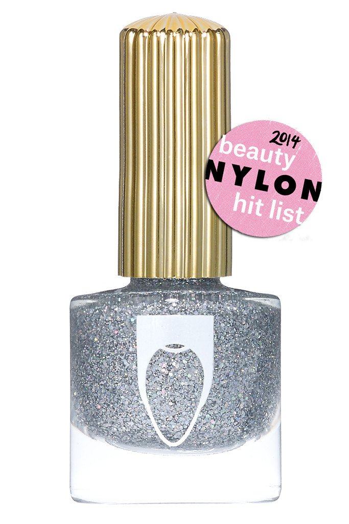 Bottle of Floss Gloss Nail Polish Dimepiece silver glitter color
