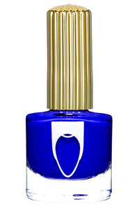 Bottle of Floss Gloss Nail Polish El Capitan in cobalt blue