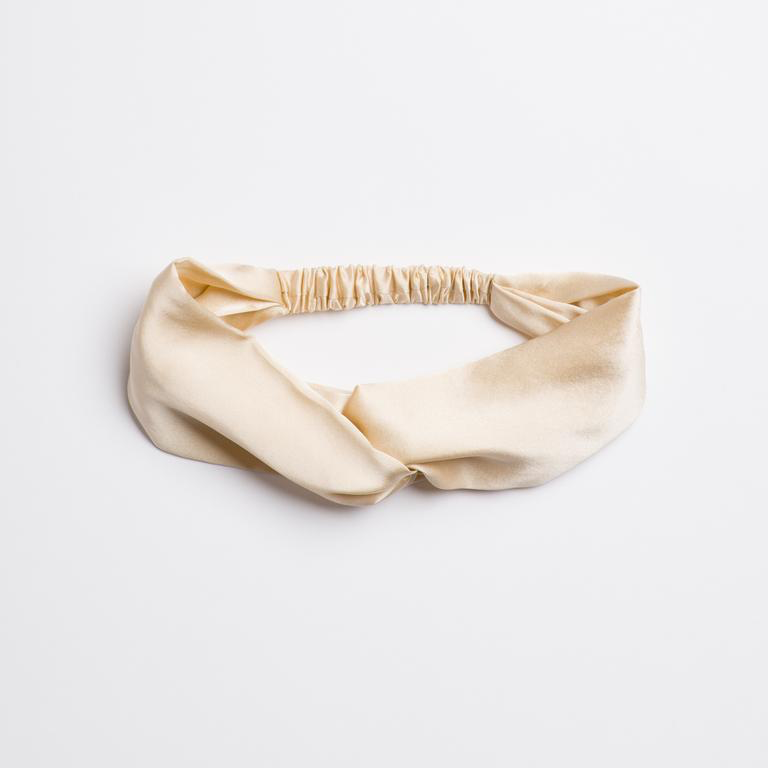 Cowgirl in the Sand silk Turban Headband in cream from I'm With the Band