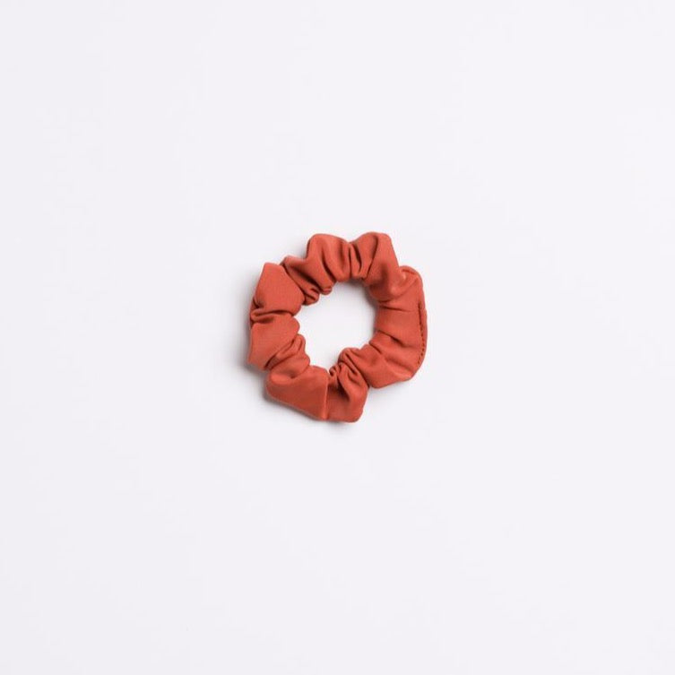 Burnt Rust Matte Sedona Sky Mini Scrunchie from I'm With the Band laying flat
