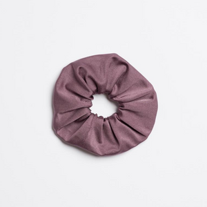 Purple Mauve Sweet Virginia Scrunchie from I'm With the Band laying flat